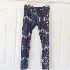 H & M Large Floral Leggings Pants Flowers